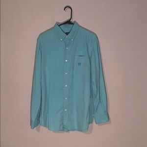 Chaps Turquoise Button-Up